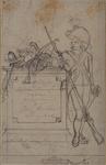 RI-1485-1 Onderscheijde Militaire Uniforme, alle geteekend door Jan Antony Langendijk. Militair met geweer bij een ...