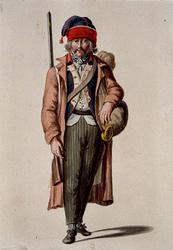 RI-1485-20 Militair in uniform.