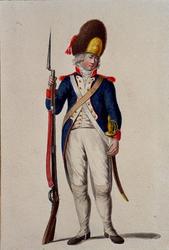 RI-1485-26 Militair in uniform.