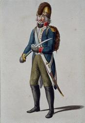 RI-1485-3 Militair in uniform.