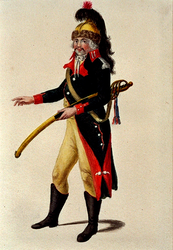 RI-1485-5 Militair in uniform.