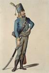 RI-1485-6 Militair in uniform.