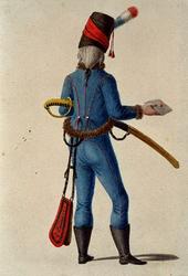 RI-1485-7 Militair in uniform.