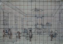 RI-1486 1796.Franse officieren in het logement Het Zwijnshoofd aan de Groote Markt.