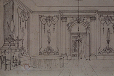 RI-1488-2 Salon in het logement het Zwijnshoofd op de Grotemarkt.