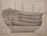 RI-1498 Bouwtekening romp schip Chattam.