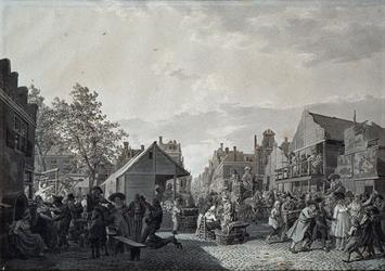 RI-1506 Zomer 1805Kermis op de Nieuwemarkt.