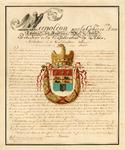 RI-1513 Gewijzigde kopie van het wapendiploma van keizer Napoleon voor Rotterdam.