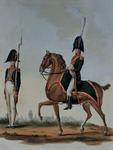 RI-1515 25 oktober 1811Militairen van de Gardes d'Honneur te voet en te paard, i.v.m. de inhaling van Napoleon I, bij ...