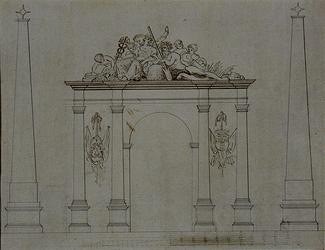 RI-1516 Erepoort, bij 's Lands Werf ter gelegenheid van de komst van Keizer Napoleon I.