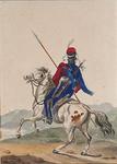 RI-1520-2 Kozak te paard.