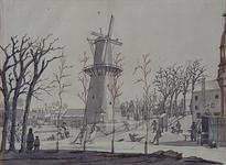 RI-1525 IJsvermaak op de Stads Vest nabij de Schiedamse Poort.