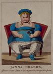 RI-1530 1819Janna Drabbe, 10 jaar oud, gewicht 300 pond, te zien gedurende de kermis in 1819.