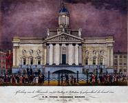 RI-1550-I 3 juli 1837Illuminatie aan het stadhuis, ter gelegenheid van het bezoek van de Koning.