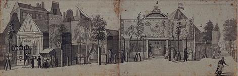 RI-1556 Zomer 1842Kermis op het Nieuwe Plein (Hofplein).