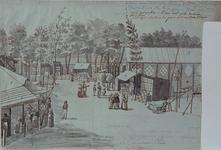 RI-1557 Zomer 1844Kermis op het Nieuwe Plein (Hofplein) te Rotterdam.