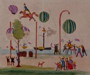 RI-1568 1846Spotprent op de mislukte pogingen van F.L. de Ruiter om op te stijgen met een luchtballon..
