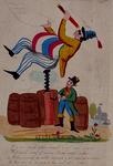 RI-1570 1846Spotprent op de mislukte pogingen van F.L. de Ruiter om met een luchtballon op te stijgen.