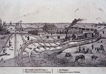 RI-1572-1-EN-2 1847Afbeelding van het zogenaamde Kromme Spoor, nabij het Laantje van van der Gaag, welke enige tijd een ...