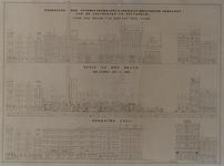 RI-1581-1 Leuvehaven, stoomsuikerraffinaderij voor en na de brand van 1849 en de herbouw in 1851.