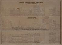 RI-1581-3 Leuvehaven, stoomsuikerraffinaderij voor en na de brand van 1849 en de herbouw in 1851.