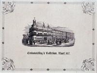 RI-1584 7 maart 1852Vee tentoonstelling op het terrein voor het gebouw van de Koninklijke Nederlandsche Yachtclub, aan ...