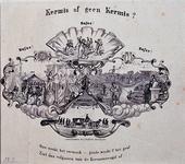 RI-1587 Augustus 1853Spotprent tegen kermis toen de cholera begon te heersen.