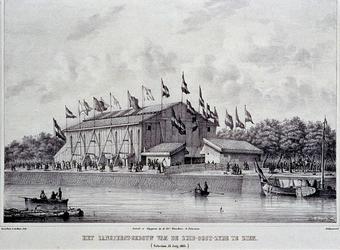 RI-1594 13 juli 1854Het Zangfeestgebouw, gezien vanaf het zuidoosten.