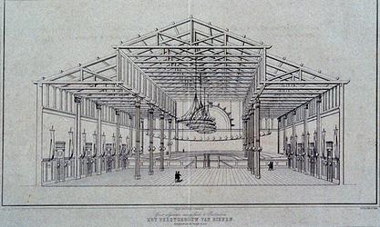 RI-1597 1854Feestgebouw voor het Groot Algemeen Muziekfeest.