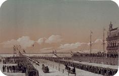 RI-1607-10 Paardenrace met arreslee op het ijs langs de Willemskade.