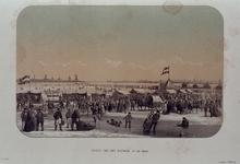 RI-1607-2 Februari, 1855.Gezicht op de Maas, vanaf het Bolwerk.