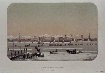 RI-1607-5 Februari, 1855.Rotterdam, gezien vanaf Katendrecht.