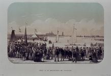 RI-1607-7 Februari, 1855.Zeilwedstrijd op het ijs, met ijsschuitjes.