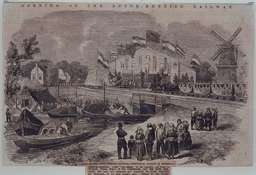 RI-1609-1 Opening van de Nederlandse Rijn Spoorweg, 20 juli 1855.