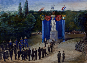 RI-1619 De onthulling van het standbeeld van Tollens in het Park van Rotterdam.