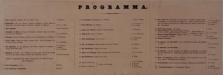 RI-1638 11 maart 1864Programma + titelpagina van een verzameling afbeeldingen van de gecostumeerde optocht ter ...