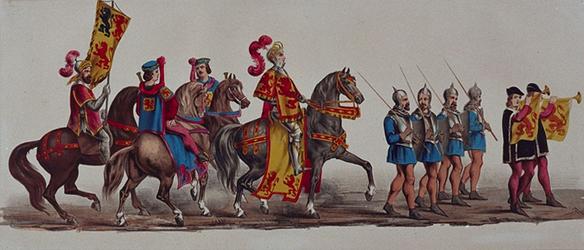 RI-1638-9-13 11 maart 1864.Gecostumeerde optocht door de leden van de manege te Rotterdam ter gelegenheid van het ...