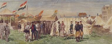 RI-1674 Nationale schietwedstrijd op de schietbaan van het Korps Koninklijke Scherpschutters te Rotterdam, ter plaatse ...