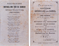 RI-1684 Programma en het gedicht van de feestviering ter gelegenheid van de onthulling van de Banier van de ...