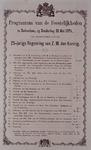RI-1686 21 mei 1874Programma van de feestelijkheden ter gelegenheid van de 25-jarige regering van Koning Willem III.