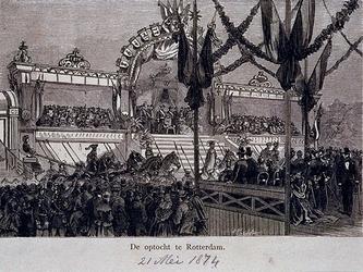 RI-1687-3 21 mei 1874Optocht ter gelegenheid van 25-jarig regeringsjubileum van Koning Willem III.