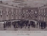 RI-1687-4 21 mei 1874Feestmaal in de Doele aangeboden aan Koning Willem III, ter gelegenheid van diens 25-jarige ...