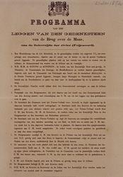 RI-1695-2 21 mei 1874Programma van het leggen van de gedenksteen van de Brug over de Maas, aan de kant van Feijenoord.