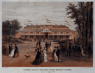 RI-1699 30 juli - 2 augustus 1875.Feestgebouw Nederlands Nationaal Zangersfeest