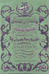 RI-1703 25 oktober 1875Geïllustreerd programma van het feest ter gelegenheid van het 25-jarig bestaan van het ...