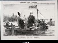 RI-1710 Mei 1879Spotprent op Pincoffs.De krach van Pincoffs.Verantwoording van 12 miljoen na 24 uren beraad.