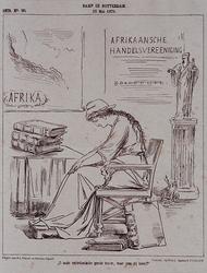 RI-1712 15 mei 1879Ramp in Rotterdam.Vrouw zit verslagen bij een tafel waarop vervalste balansen liggen. Achter haar ...