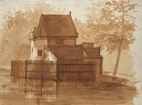 RI-198 Kruittoren der Marine a/d Oostpoort omstreeks 1840