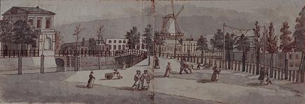 RI-222 Gezicht van het Hofplein op de Delftse Poort en de Schiekade uit het zuidoosten.