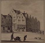RI-258 Gezicht op de Kaasmarkt, Lamsteeg en Melkmarkt uit het noordoosten, omstreeks 1660
